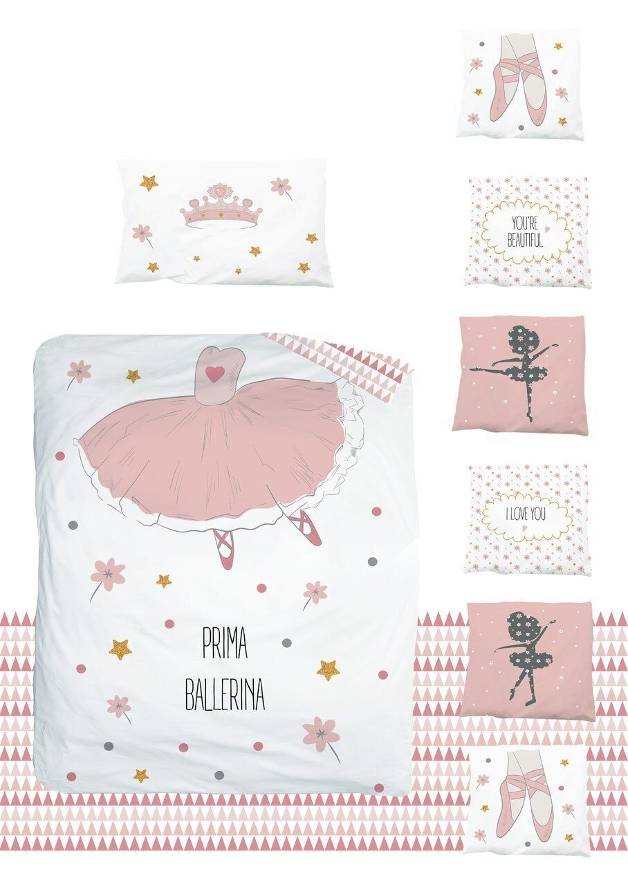 Комплект в кроватку 18 предметов AmaroBaby EXCLUSIVE Creative Collection PRIMA BALLERINA