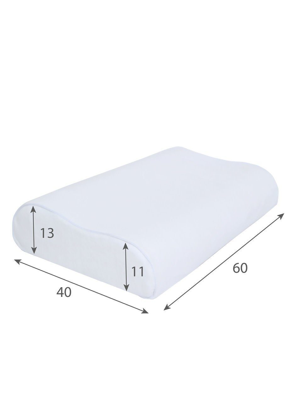 Подушка AMARO HOME Memory Foam Wave 60х40х13/11 см.