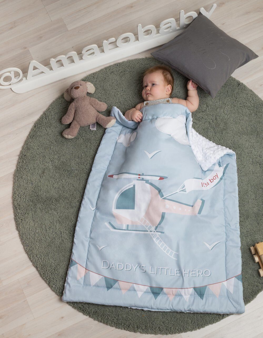 Плед AmaroBaby EXCLUSIVE Creative Collection 95х85 DADDY`S LITTLE HERO
